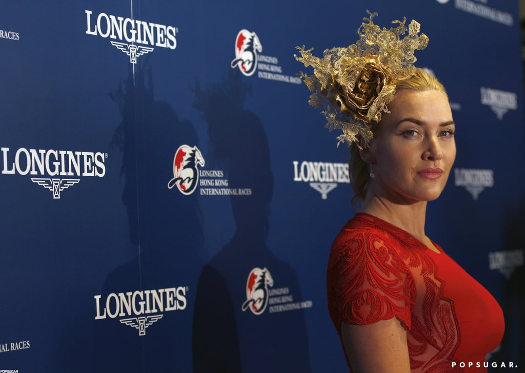 Kate Winslet posed on the red carpet in Hong Kong.