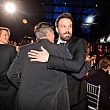 George Clooney and best director winner Ben Affleck hugged it out during the show.