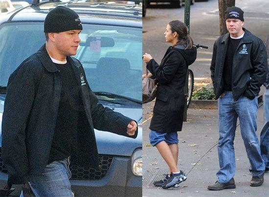 Photos of Matt Damon and Luciana 2009-10-29 20:48:30