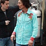 Matthew McConaughey was in costume on The Dallas Buyer's Club set in New Orleans.