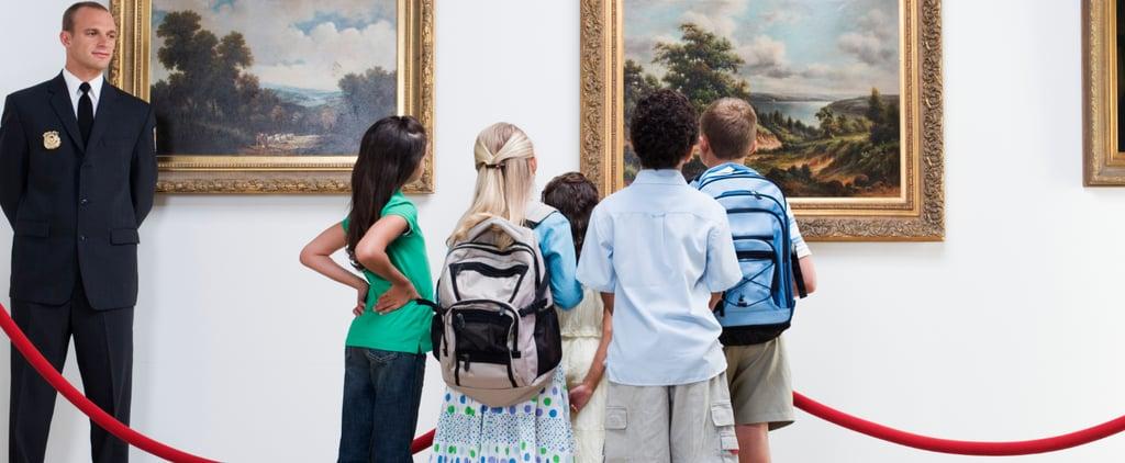 Kids Playing on Museum Art