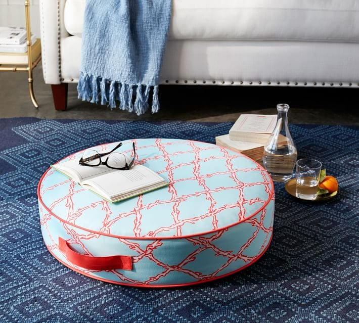 Deep Dive Printed Indoor Outdoor Floor Cushion Pottery Barn And