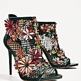 Zara's Floral Mesh Sandals ($139) marry a sporty material with retro flower add-ons.