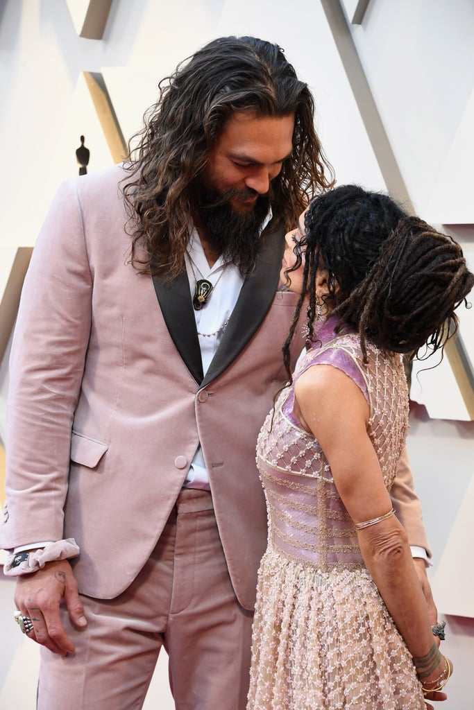 Jason Momoa at the Oscars With His Scrunchie