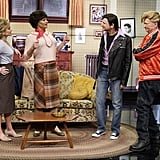 "Laverne & Shirley returns to the screen with Kelly Ripa as Laverne DeFazio, Ryan Seacrest as Shirley Feeney, Michael Gelman as Andrew ""Squiggy"" Squiggman, and Art Moore as Lenny Kosnowski."