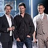 Gary Oldman, Christian Bale, and Joseph Gordon-Levitt