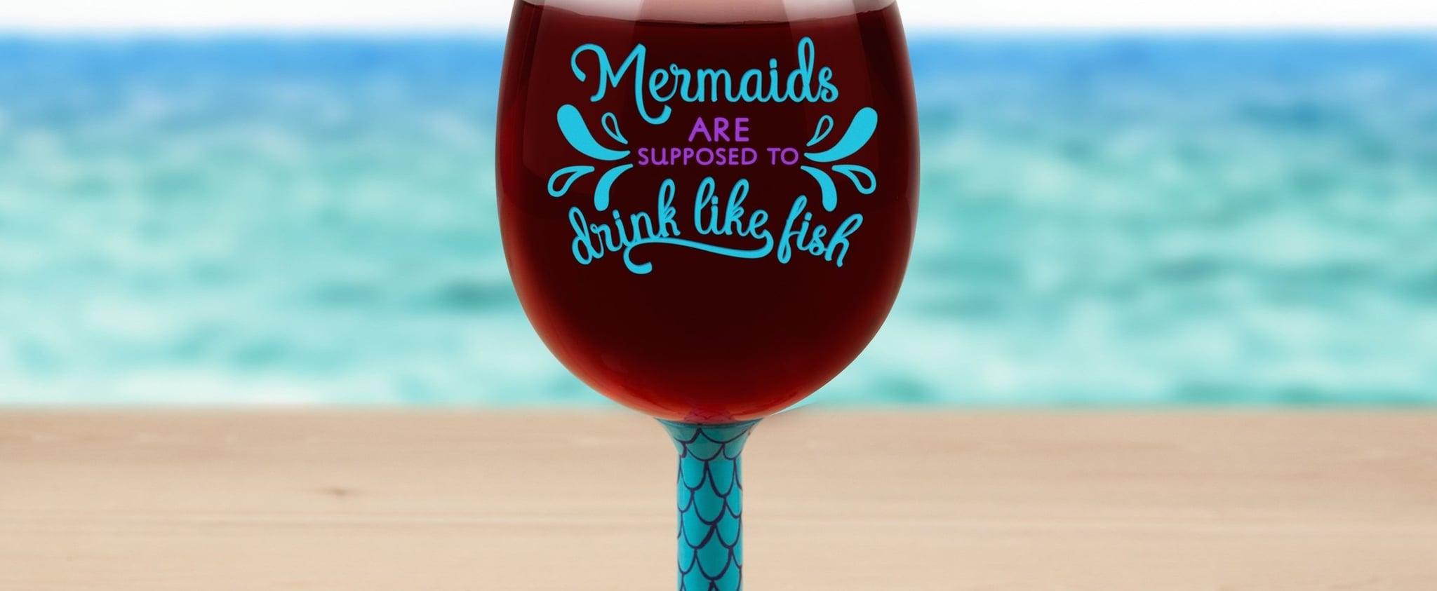 Giant Mermaid Wine Glass