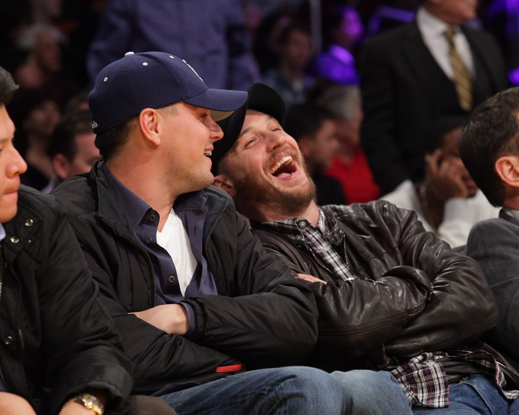Leonardo Reunites With His Inception Costar Tom For the Lakers