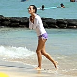 Alessandra Ambrosio on the beach.