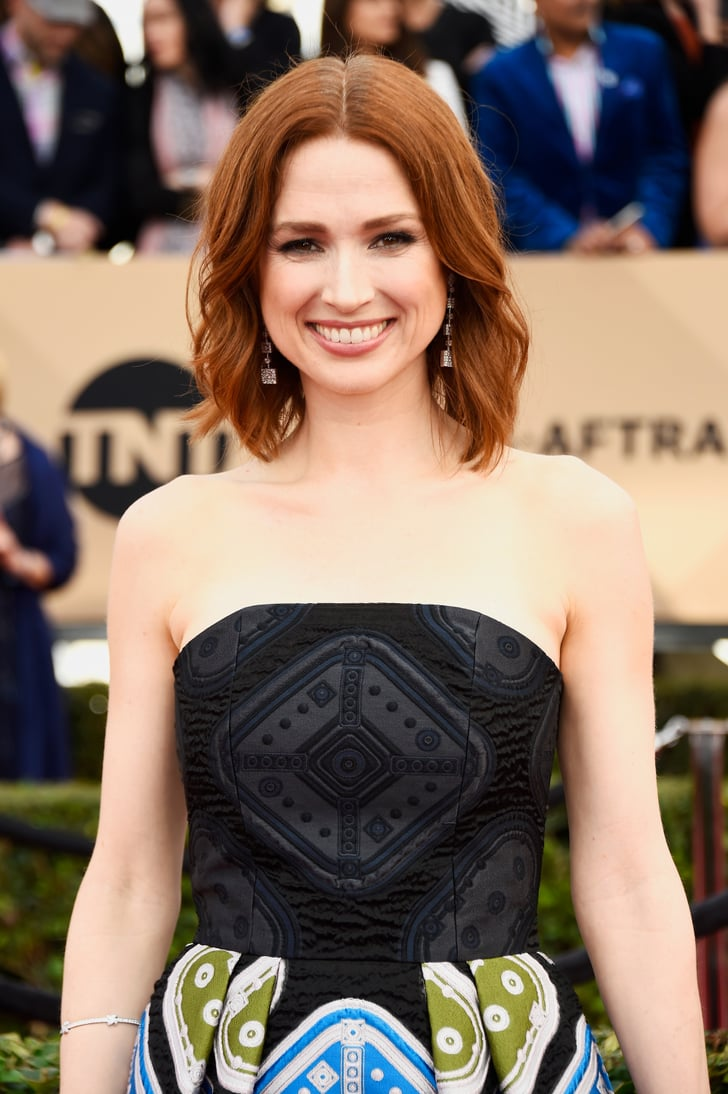Ellie Kemper Hair And Makeup At Sag Awards 2016 Red