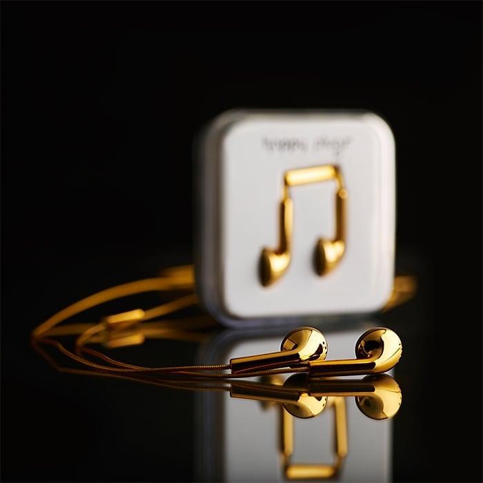 18-Carat-Gold Headphones by Happy