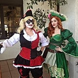 Harley Quinn and Poison Ivy as Pirates