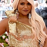 Mindy Kaling's Met Gala 2019 Rose Gold Hair