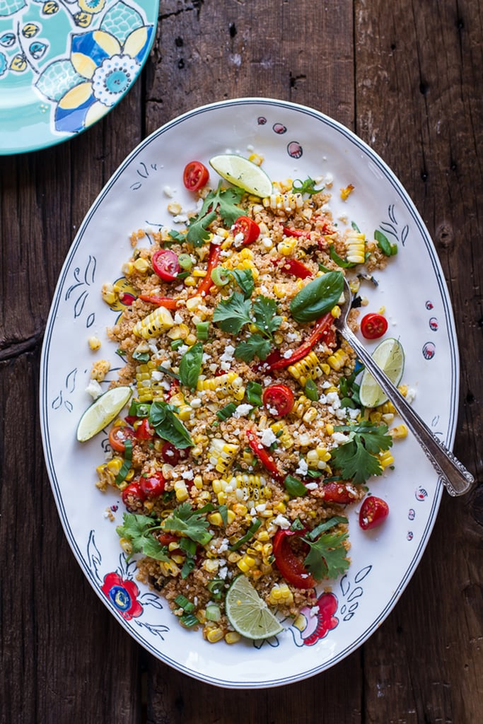Mexican Grilled Street Corn Quinoa Salad