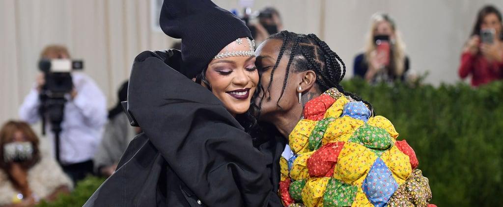 Rihanna and A$AP Rocky Cozy Up at 2021 Met Gala | Photos
