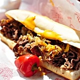 Don't forget to feast on an authentic Philly cheesesteak.