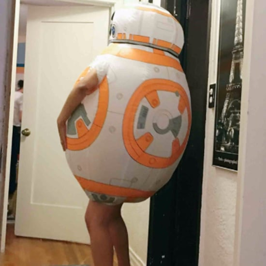 Woman Wears Kids' BB-8 Costume