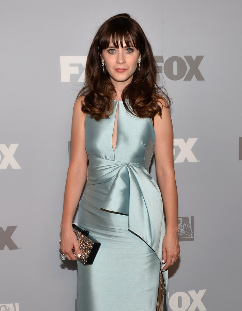 Zooey Deschanel was on hand for the Fox Emmys afterparty.