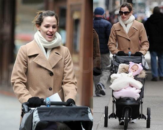 Jen and Violet Go for a December Stroll