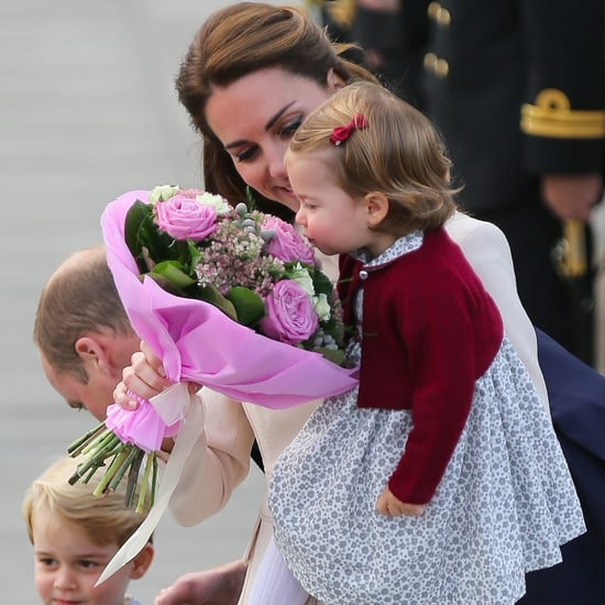 Princess Charlotte Smelling Flowers in Canada Pictures