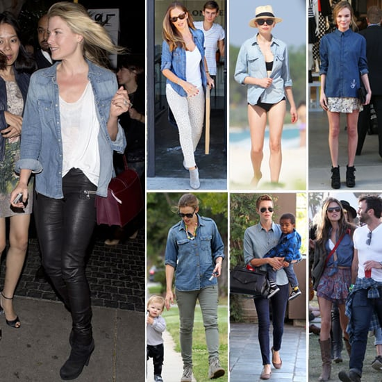 How to Wear a Denim Shirt | Celebrity Pictures
