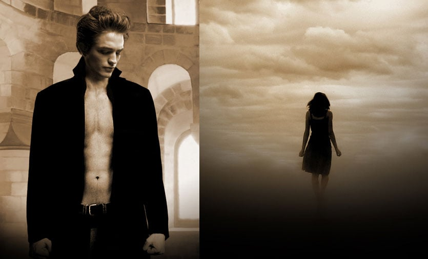 Shirtless Robert Pattinson New Moon Poster
