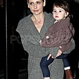 Sarah Michelle Gellar Gets Back to Work With Baby Charlotte on Her Hip!