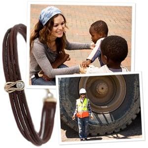 Rachel Bilson Designs Charity Bracelet for Diamond Empowerment Fund in Africa