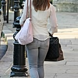 Pippa Middleton Picks Denim For Her Morning Commute