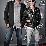 "Blake Shelton = 6'5"",  Adam Levine = 5'11"""