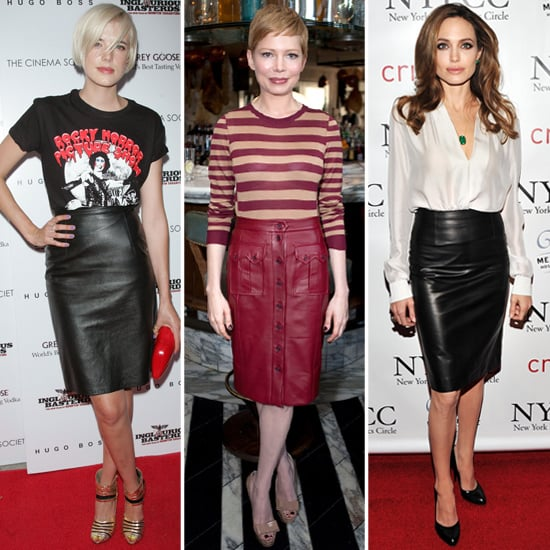Celebrities in Leather Skirts | POPSUGAR Fashion