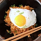 Kimchi Fried Rice With Fried Eggs