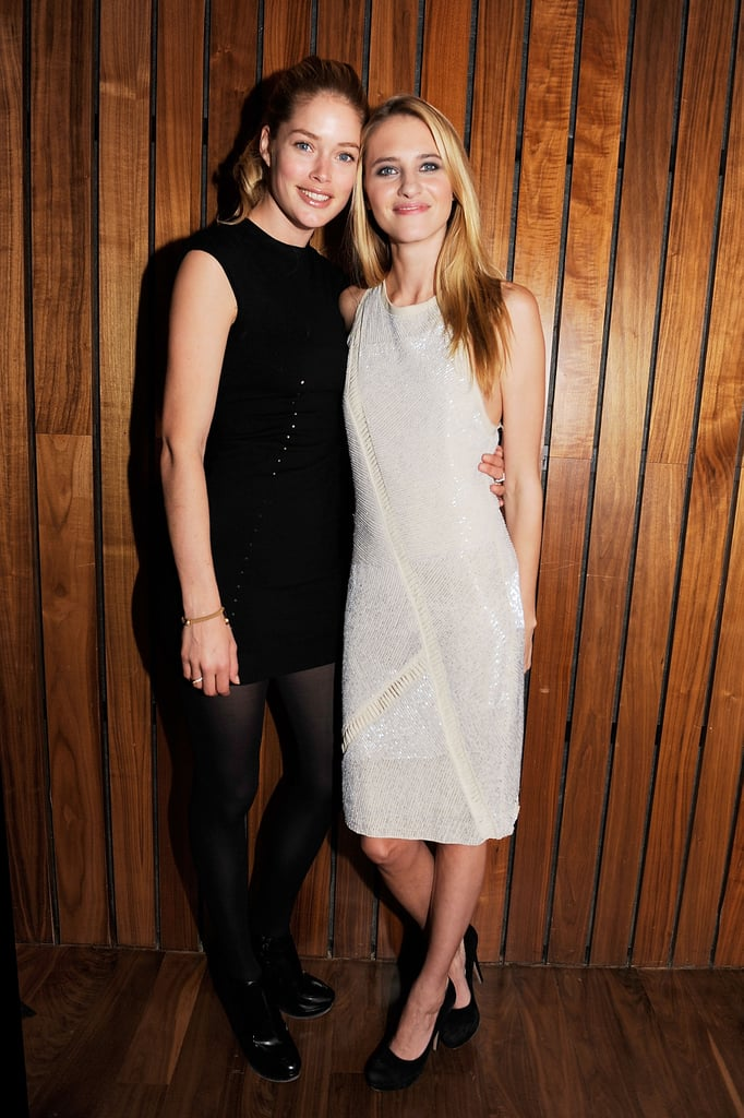 Doutzen Kroes (with Sara Ziff) at The Model Alliance launch at The Standard Hotel in New York in February 2012.