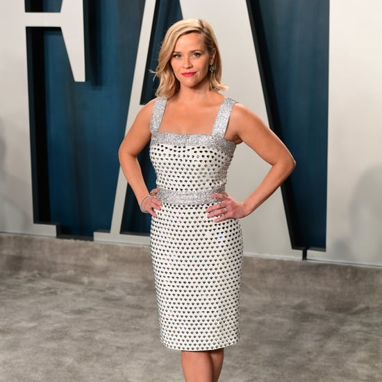 Reese Witherspoon Silver Dress Vanity Fair Oscars Party 2020