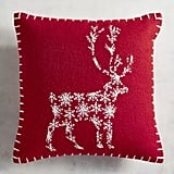 Reindeer Mini Red Pillow ($20)