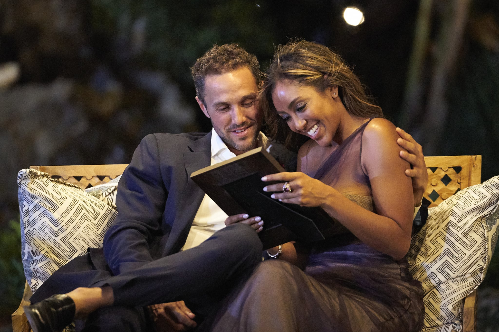 THE BACHELORETTE - 1609  The drama rages on as Bennett and Noah continue to confront one another on the impromptu two-on-one date. JoJo ups the ante by explaining to the men that a rose this week will be their ticket to a hometown date and an opportunity to introduce Tayshia to their families. One mans one-on-one date starts as a fun scavenger hunt but evolves into a more serious discussion when he shares a deeply emotional secret with the Bachelorette that he hasnt revealed to anyone else. Honesty is at the top of Tayshias list for a soul mate, and she puts five men through a high-pressure lie detector date. After all the confessions, there is one more shocking surprise at the end of the night that might turn her journey upside down on The Bachelorette, TUESDAY, DEC. 8 (8:00-10:01 p.m. EST), on ABC. (ABC/Craig Sjodin)ZAC C., TAYSHIA ADAMS