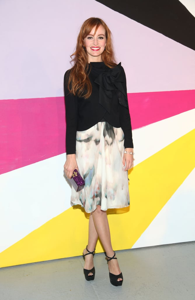 The Help's Ahna O'Reilly made a ladylike arrival at Alice + Olivia.