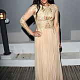 Paula Patton slipped into an ultra-femme sheer-embroidered Randa Salamoun gown for the Weinstein Company's party in Cannes.