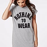 Missguided Raleigh Nothing to Wear Oversized T-Shirt Dress Grey ($20)