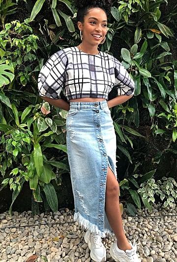 Denim Skirt Outfit Ideas 2019