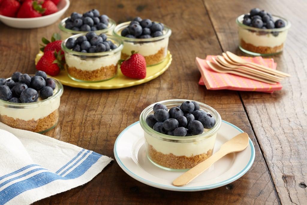 Mini Layered Blueberry Cheesecake Pies
