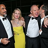 Director Alejandro González Iñárritu met up with Naomi Watts and Michael Keaton during the show.
