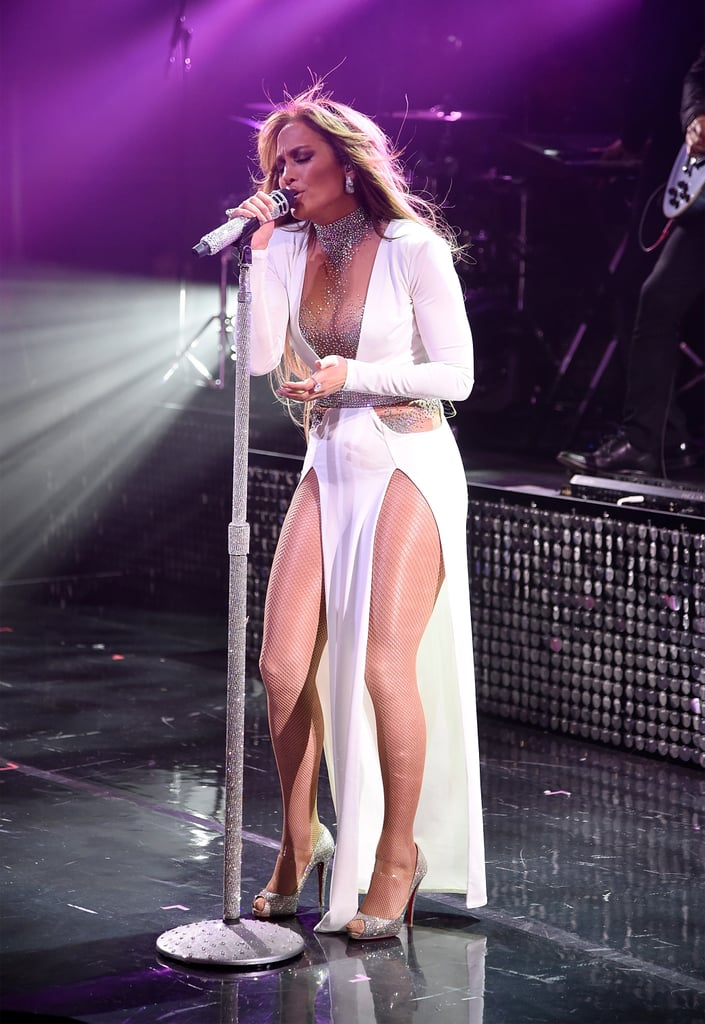 Jennifer Lopez White Dress Performance at Time 100 Gala 2018