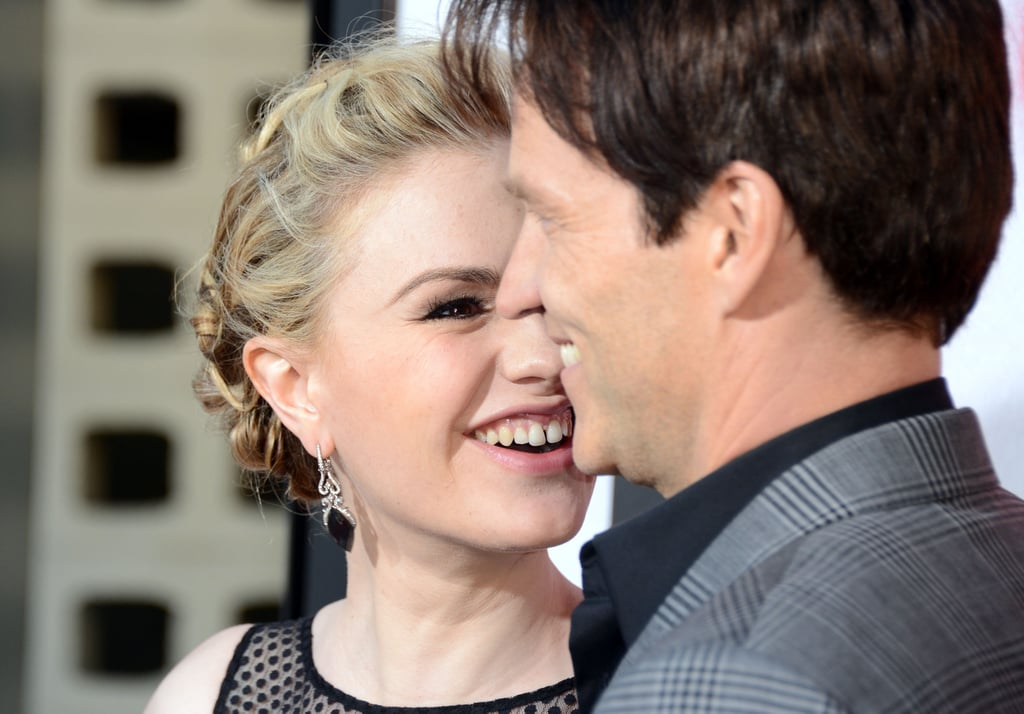 Anna Paquin smiled at Stephen Moyer at the premiere.