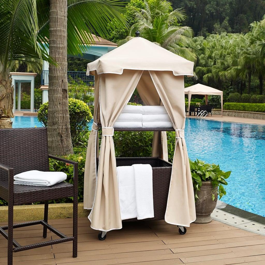 Palm Harbor Outdoor Wicker Towel Valet