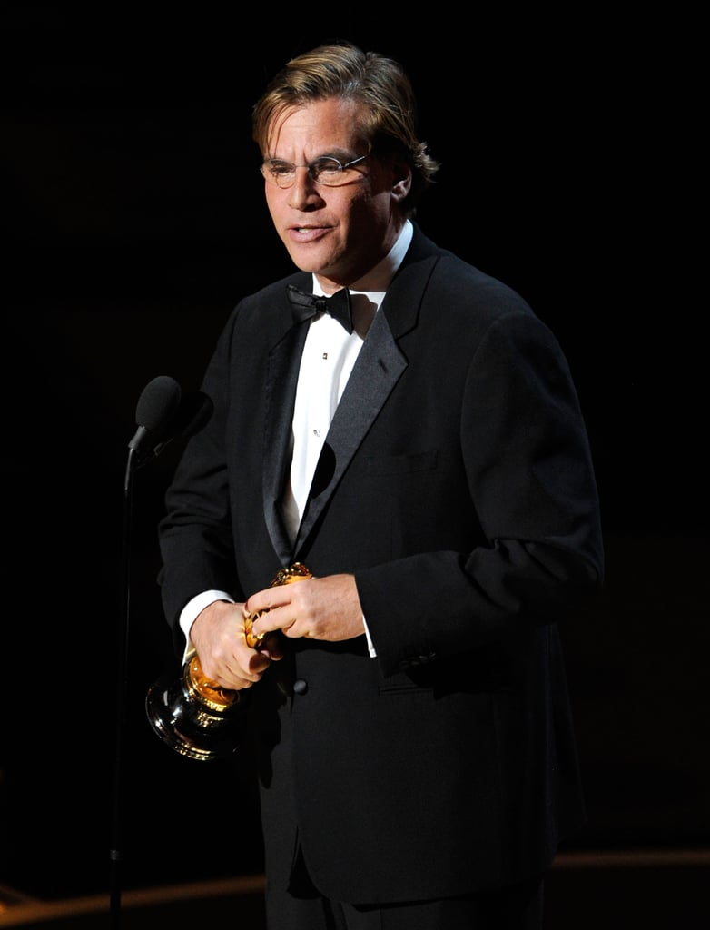 Picture and Quotes From Aaron Sorkin About Mark Zuckerberg in 2011 Oscars Press Room