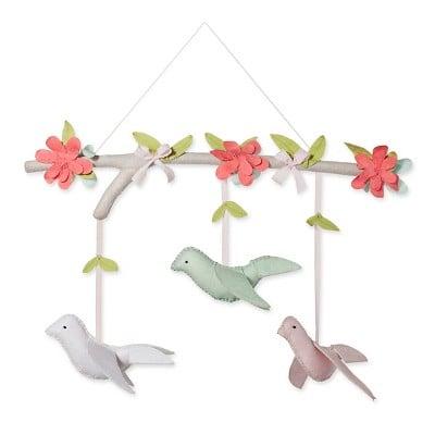 Cloud Island Pink Hanging Decor Birds