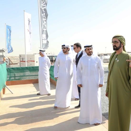 الشيخ محمد يزور برج خور دبي