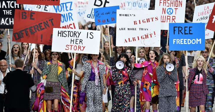 Chanel Spring 2015 Fashion Show Protest Pictures ...