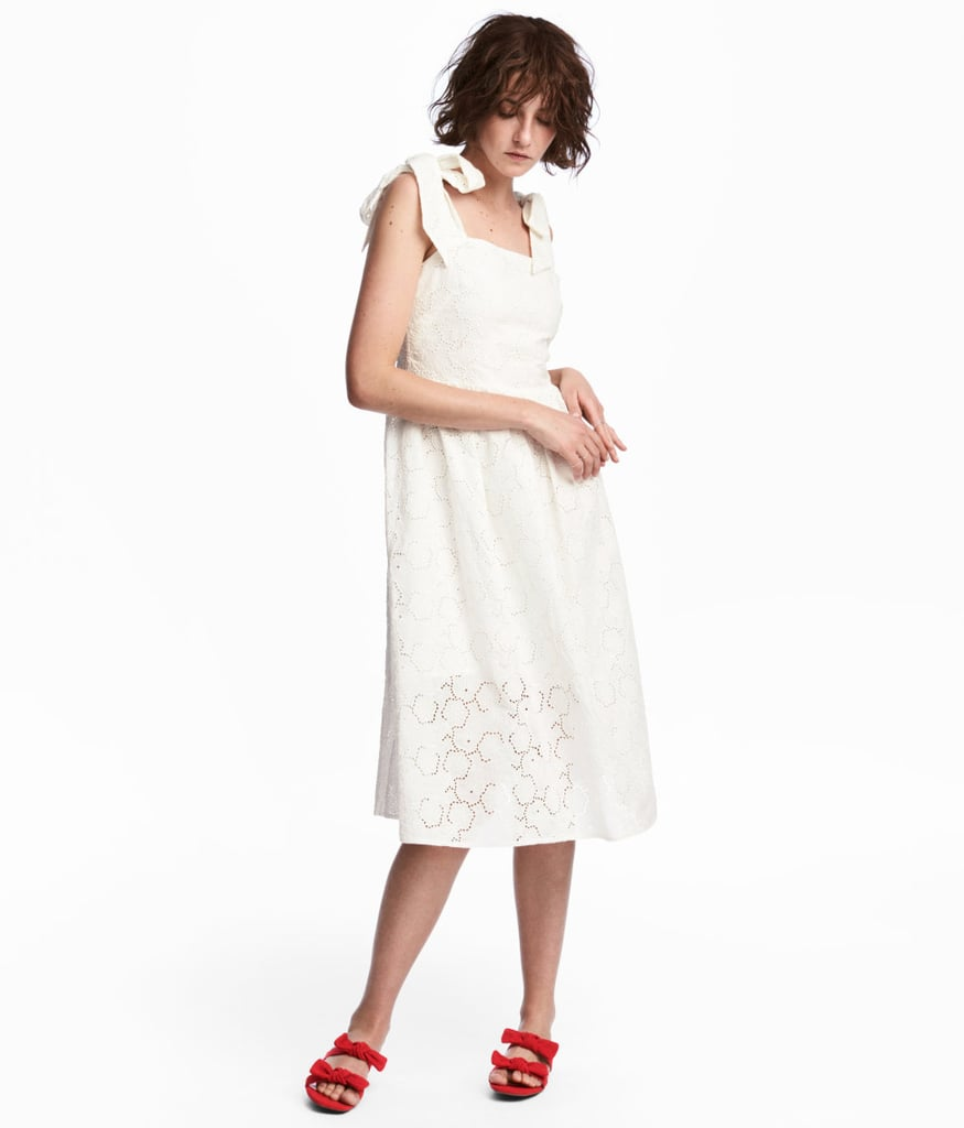 H&M Dress With Eyelet Embroidery